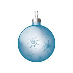Bbue christmas ball