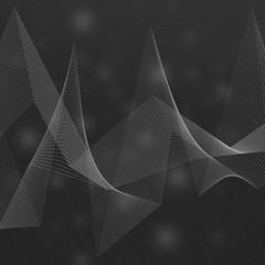 dunkel grau bis schwarz kolorierter grafischer Hintergrund, Illustration mit Diagramm ähnlichen Linien