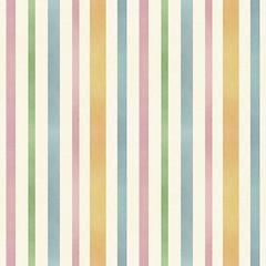 アナログ手書き水彩風 風合いのあるストライプ柄 繰り返しシームレスパターン