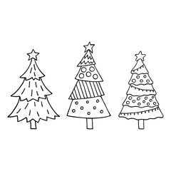 Cute Christmas tree set