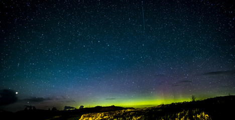 Isle of Skye Northern Lights and stars