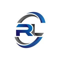 Simple Modern Initial Logo Vector Circle Swoosh rl