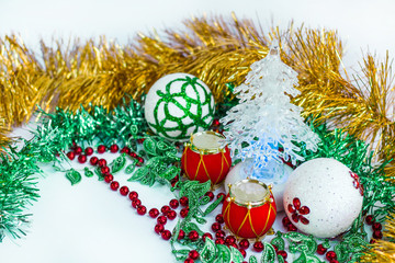 Christmas and New Year ornamenal decoration