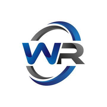 Simple Modern Initial Logo Vector Circle Swoosh wr