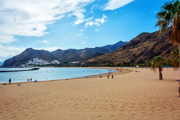 Beach Las Teresitas in Tenerife sand from the Sahara