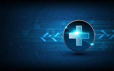 vector abstract medical health care concept tech innovation background