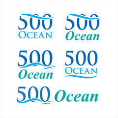 500 ocean abstract icon logo