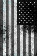 Damaged american flag background.