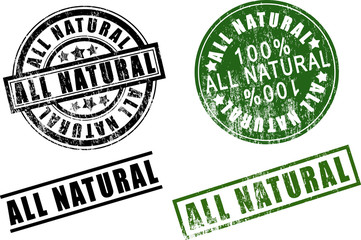 100%  one hundred percent All-Natural rubber stamps.