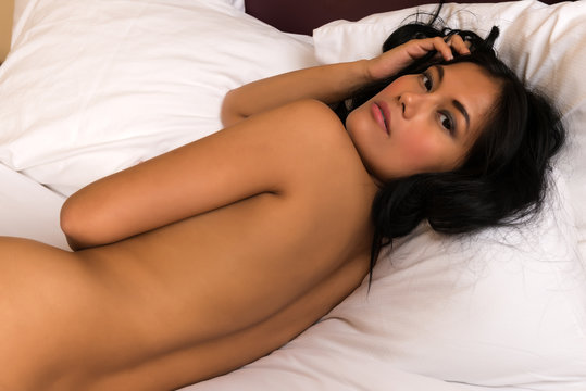Filipina in bed