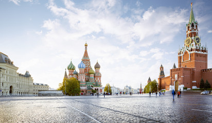 Door stickers Moscow Panorama of Red Square in Moscow, Russia