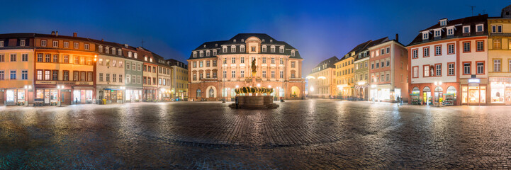 Fotomurales - Heidelberg Marktplatz Panorama im Winter