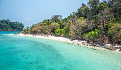 Fototapeta white beach of the Koh Rang Isle of Ko Rang National Park, Koh C obraz