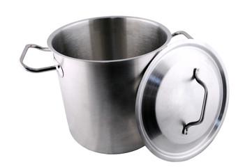 stainless steel kitchen casserole.