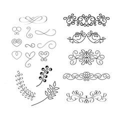 Calligraphic element - border, heart