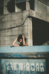 Curly woman feeling sadness