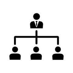 Hierarchical structure, networking icon vector