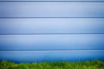 Modern blue tile wall