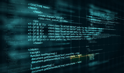 Code, HTML web programming  background