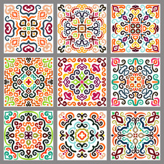 Printed kitchen splashbacks Moroccan Tiles Square Decorative Tiles Set