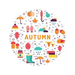 Set autumn icon