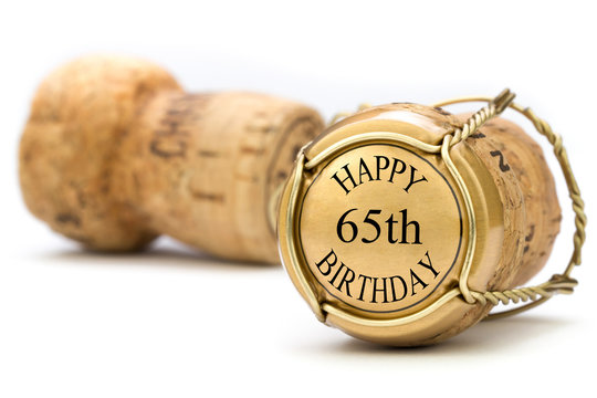 Happy 65th Birthday - Champagne