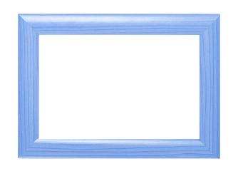 Blauer Holzrahmen