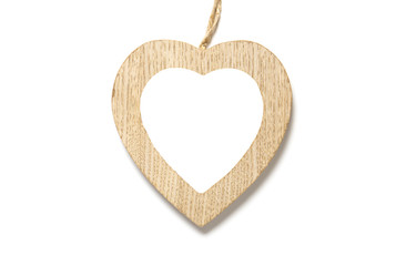Holzrahmen in Herzform