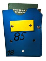 Original Passtasche Grenzkontrolle DDR