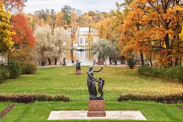 Catherine in Tsarskoye Selo in autumn, near Saint Petersburg