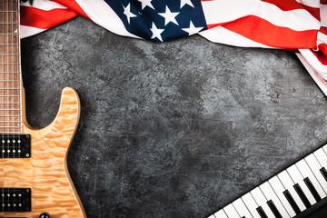 Fotoväggar - Electric guitar on grey background