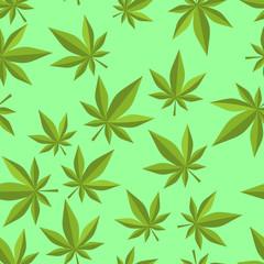 Cannabis seamless pattern. marijuana texture. ganja ornament. Na