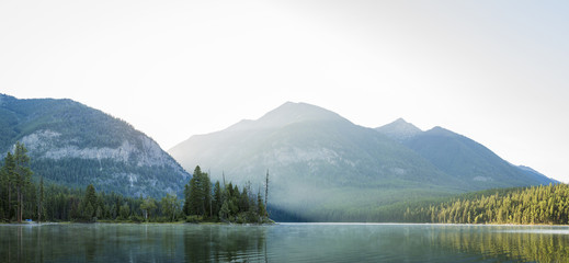 Panoramic view of lake against mountains