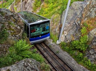 Floibanen funicular to Mt Floyen at Bergen City