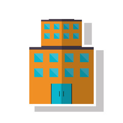Building with windows icon. Architecture city and urban theme. Isolated design. Vector illustration