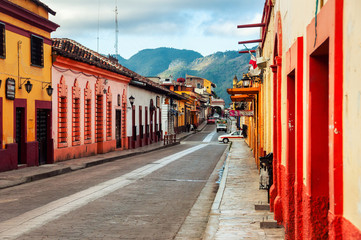 Printed kitchen splashbacks Mexico Streets of colonial San Cristobal de las Casas, Mexico