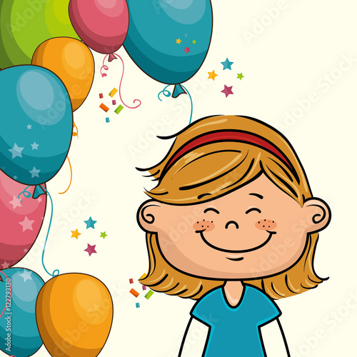 """avatar Girl Smiling And Happy Birthday Party Decorations"