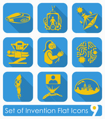 Set of invention icons