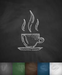 coffee icon. Hand drawn vector illustration