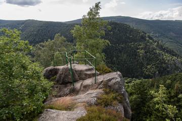 Aussichtspunkt, Gipfel des Treppenstein, Panorama, Naturpark Harz