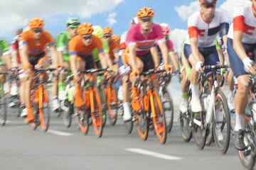 Racing Cyclists, Motion Blur