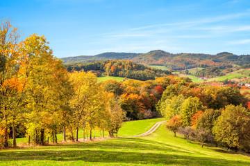 Bunte Herbst Landschaft in Deutschland