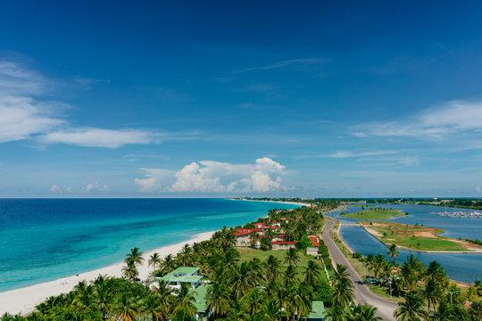 The most beautiful species in the Atlantic Ocean and beach in the resort of Varadero, Cuba