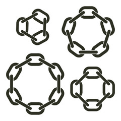 Round chains with six, eight, ten and twelve links
