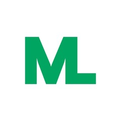 ML letter initial logo design