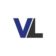 VL letter initial logo design