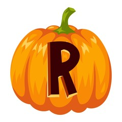Halloween font alphabet vector