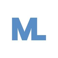 ML letter initial logo design