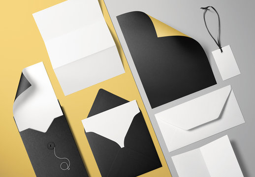 Two-Sided Stationery Mockup 1