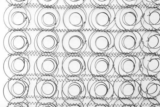 abstract background of metallic springs
